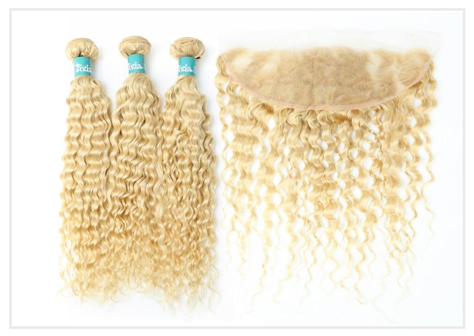 Blonde Deep Wave Bundles with Frontal  (2)