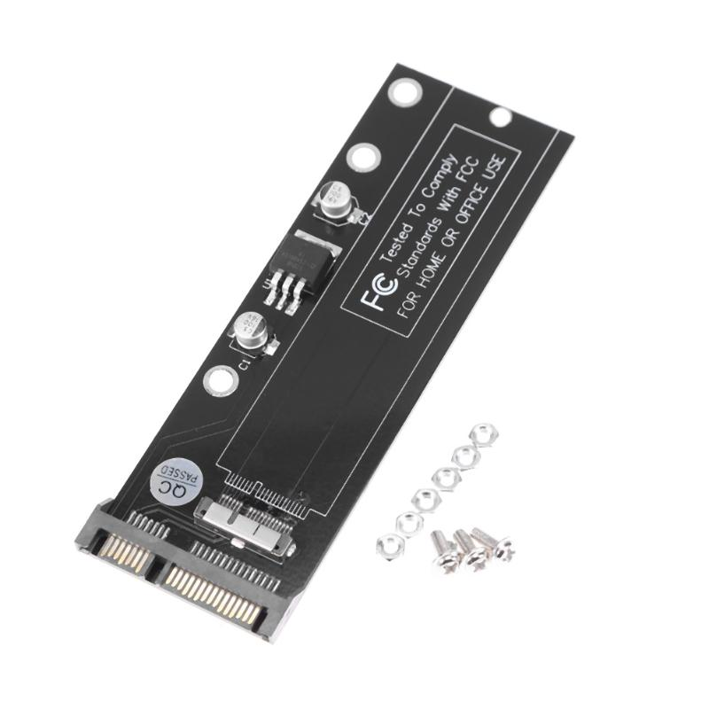 цены High Quality 12 + 6pin SSD to SATA Converter Card 22Pin SSD Hard Dirve PCBA Adapter for Apple MacBook Air 9 2010 2011 SSD