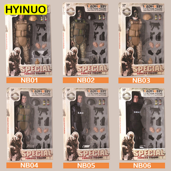 6 Models 1/6 Scale Plastic Camouflage Toy Gun Military Model Action Figure Set Sculpt Model 12' Full Set Action Figure Toy image