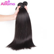 Alitomo Brazilian Straight Hair Bundles 8-28 inch 100% Alidoremi Human Hair Weave Non Remy Hair Natural Color 3 Bundles Hair(China)