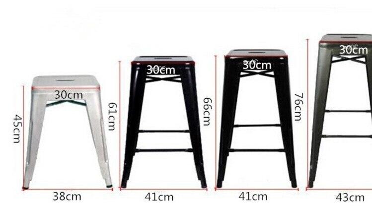 4 pezzi lottp 18 pollice altezza metallo lamiera di ferro sedie