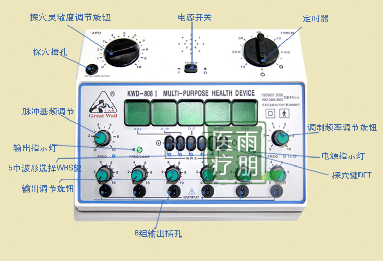 Máquina estimuladora de acupuntura KWD808-I marca Great Wall / kwd - Cuidado de la salud