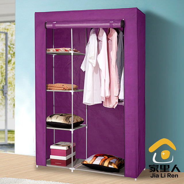 Simple Dust Cloth Wardrobe Folding Wardrobe Closet Clothes Storage Cabinets  Hanging Wardrobe Closet Shipping