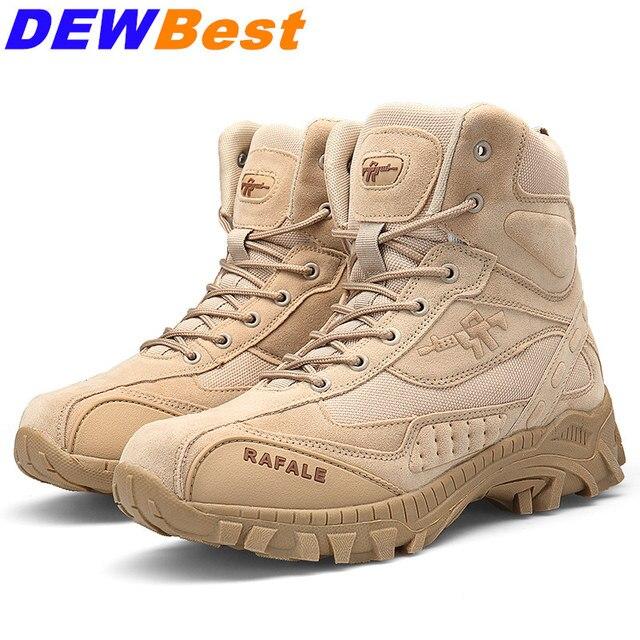 Erkekler yüksek Kalite ile Askeri Botlar Özel Kuvvet Taktik Çöl Ordu iş ayakkabısı Deri Kar Botları Kış Sonbahar