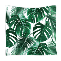Tropical Leaves tapestry wall hanging printed banana leaf wall clothes green trees drop shipping wall blanket