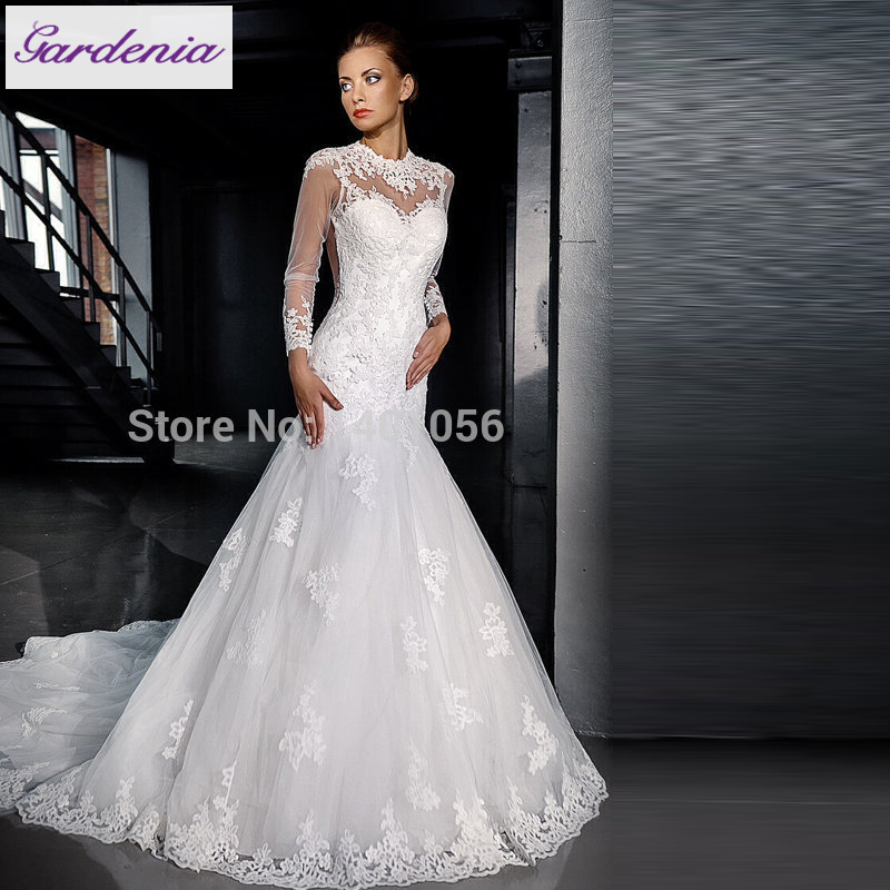 Stunning Lace Wedding Gowns Sexy Mermaid Style Spring Bridal Gowns ...