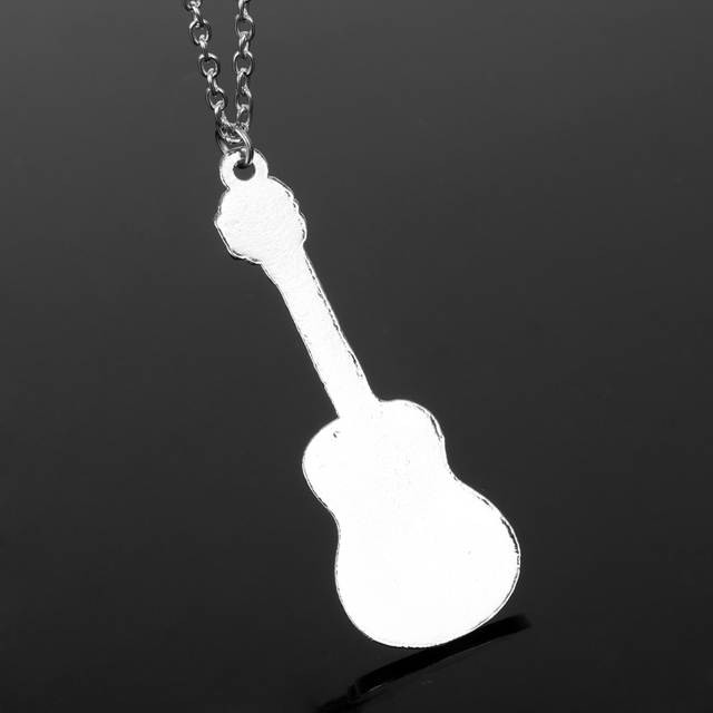 9a88fca33 Fashion Cool Jewelry Guitar Pendant Necklace Punk Women Man Charm Necklace  Music Fans Best Friends Gifts -in Chain Necklaces from Jewelry &  Accessories on ...