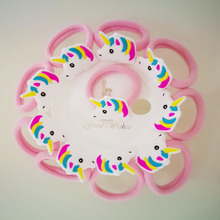 Girls' Unicorn Elastic Hair Bands and Clips Set