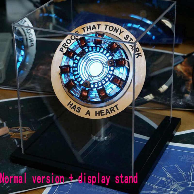 Homem de ferro telecontrolled reator mk1 led tony stark coração luz mesa decoração cosplay vingadores coleção armadura