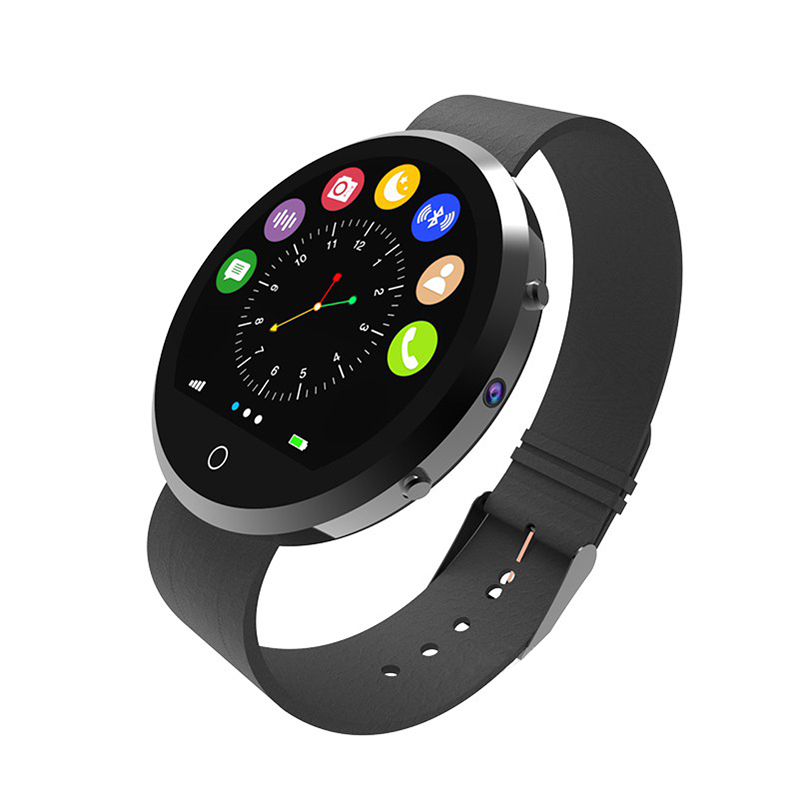 FineFun New Round Smart Watch BT360 Health Monitor Bluetooth Smartwatch Support SIM Card For IOS Android Smartphone 3 Colors