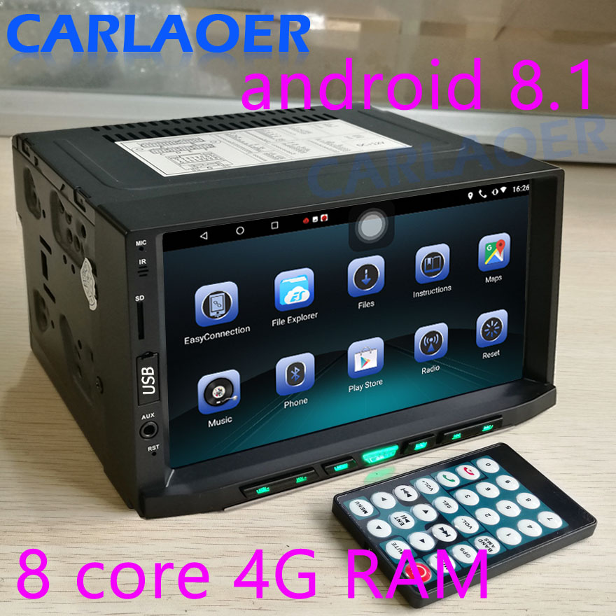 Car Android 8 1 4G RAM 2 Din radio Multimedia Video Player Universal auto Stereo GPS