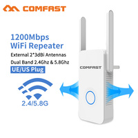2019 1200Mbps Comfast Gigabit WiFi Repeater Router Access Point WiFi Range Extender 2*3dBI Antennas 5.8Ghz Wifi Signal Amplifer