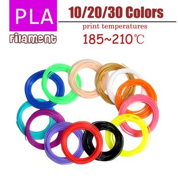 Lihuachen 3D długopis włókno PLA materiałów 5 metrów 10 metrów 10 kolorów 20 kolory 30 kolory 100 metrów 200 metrów 300 metrów 1 75mm tanie i dobre opinie aiboduo CN (pochodzenie) Z jednego materiału