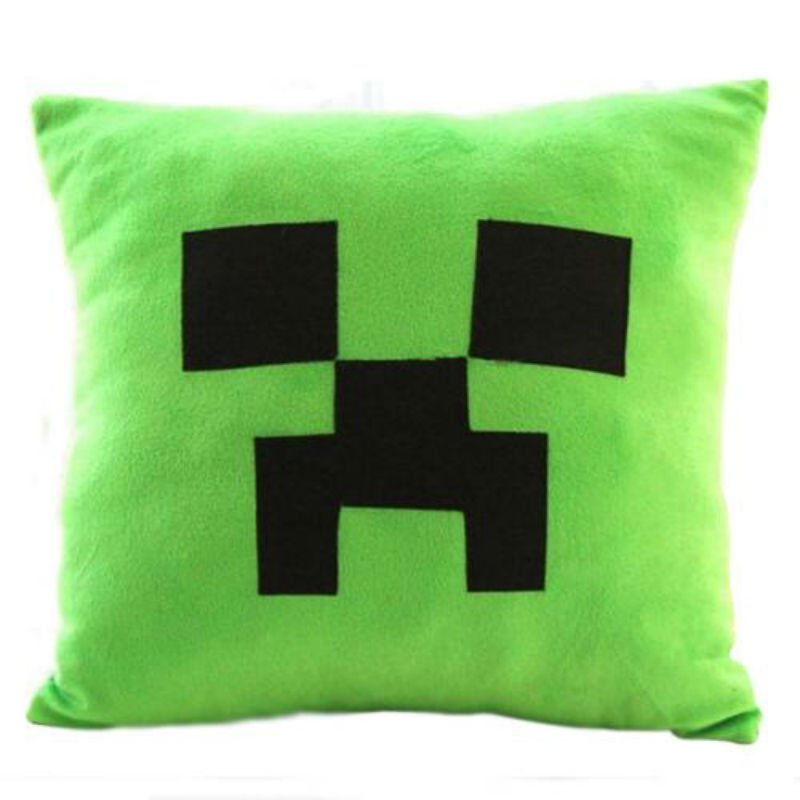 цена на 30/40/45 cm Minecraft TNT Creeper Stuffed Cartoon Game Toys Elastic Cube Cushion Plush Toys For Children & Fans