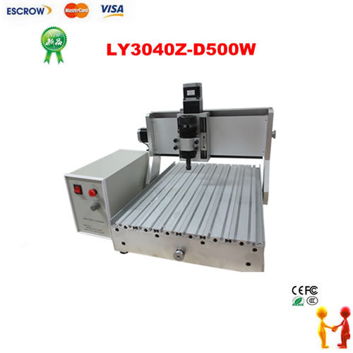 CNC engraving machine LY 3040Z D500W with ball screw air cooled hobby woodworking lathe router