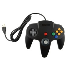 2 pcs USB Game Wired Controller Joypad Joystick Gamepad Gaming For Nintendo for Gamecube for N64 64 Style for Mac Black