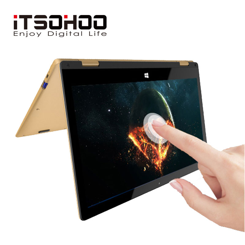 Itsohoo Notebook Computer Tablet Laptop Convertible Intel Touchscreen 360-Degree