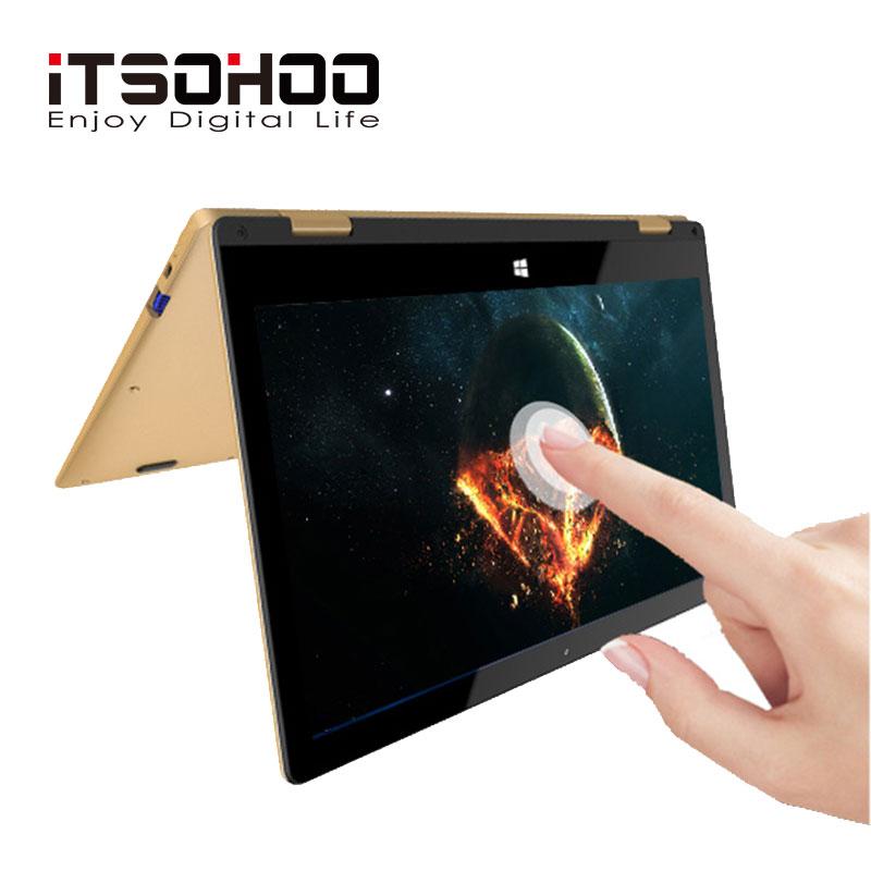 11.6 pouces écran tactile convertible tablette ordinateur portable iTSOHOO 360 degrés rotation ordinateurs portables intel ordinateur portable