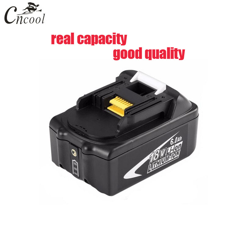 Cncool 100% 6A 18V Rechargeable Battery 6AH led light Li-Ion Battery Replacement Power Tool Battery For MAKITA BL1860 gtf 18v rechargeable battery 6ah 6000mah li ion battery replacement power tool battery for makita bl1860