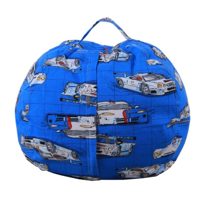 Hot Sale Stuffable Animal Printed Toys Storage Bean Bag Stuffed Children Plush Toy Organizer Creative Supplies