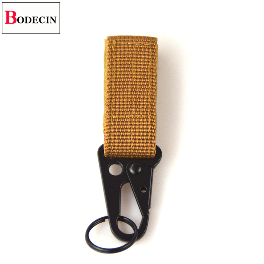 Outdoor Tools EDC Gear Camping Tactical Nylon Belt Clip Keychain Snap Hooks Bushcraft Molle Webbing Buckle Carabiner For Keys (2)