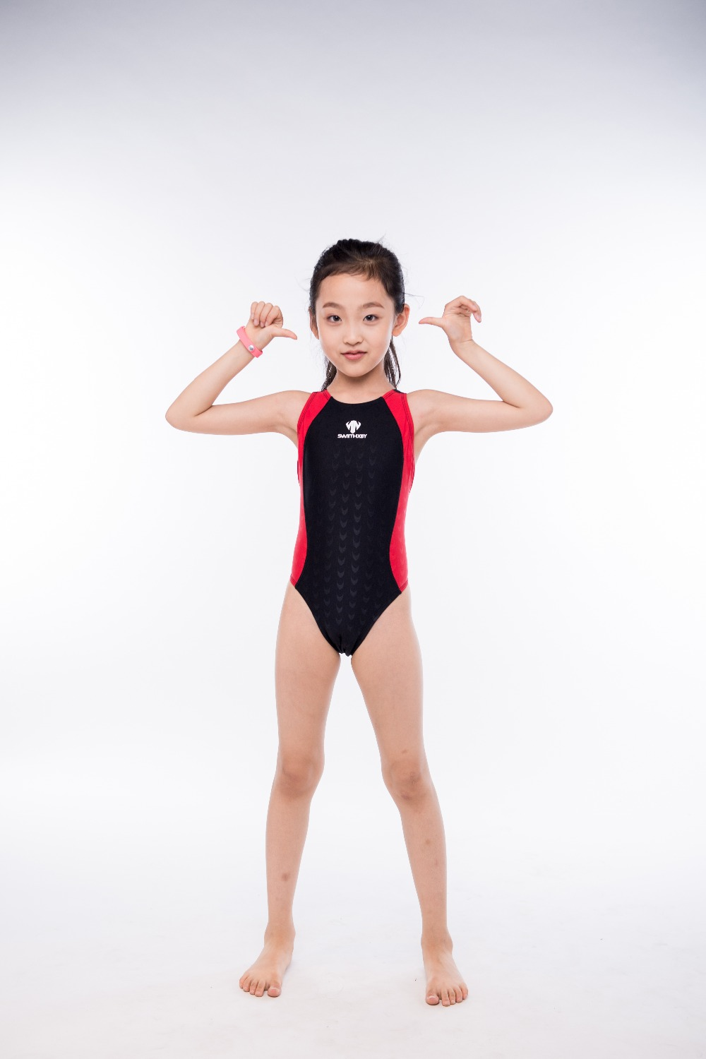 все цены на Girls One Piece Training Sport Swimsuits Bathing Suits Children Professional Surfing Beach Wear Diving Swimming Wear Sea Clothes