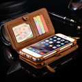 Floveme Retro Folded Wallet Case For Samsung Galaxy S6 Edge Plus S7 Note 3 4 5 Leather Cover Original Brand Stand Metal Ring