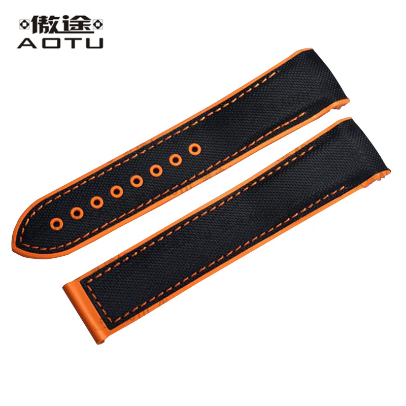Rubber Watchabnds For Omega SEAMASTER Planet Ocean 22mm Men Watch Straps Top Quality Male Watch Band
