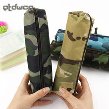 Hot Sale Boys and Girls Camouflage Pencil Case Canvas Pencil Bag School Supplies Stationery Box(China)