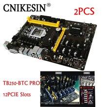 New 2PC TB250-BTC PRO 100%New in box 12PCIE for Biostar TB250-BTC TB250 1151 DDR4 motherboard alternative H81 BTC PRO TB85