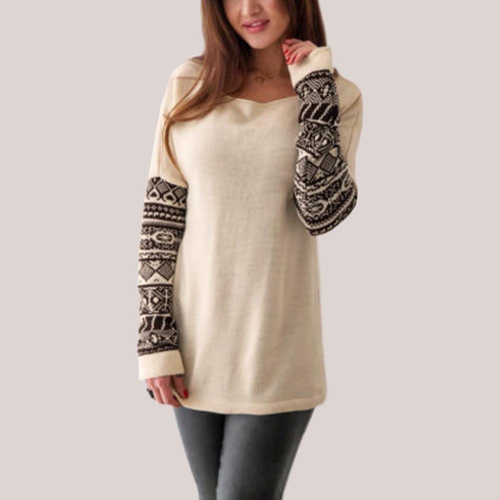 Women's Ethnic Print Long Sleeve T-Shirt 1