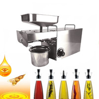 Newly Mini Oil Press Machine Fully Automatic Stainless Steel Cold Press Oil Machine Home Oil Pressing
