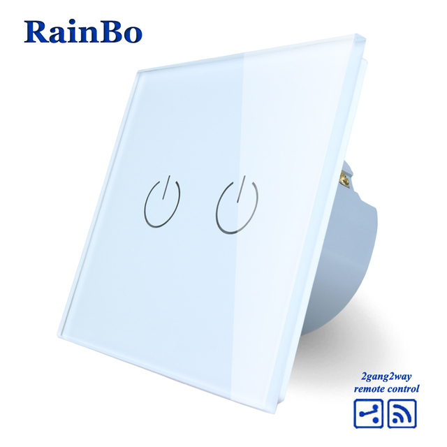 Rainbo touch switch screen crystal glass panel wall light switch rainbo touch switch screen crystal glass panel wall light switch eu 110250v remote wall mozeypictures Image collections