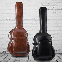40/41 Inch Waterproof Thickened PU Leather Guitar Backpack Carrying Bag Guitarra Case Musical Instrument Accessories