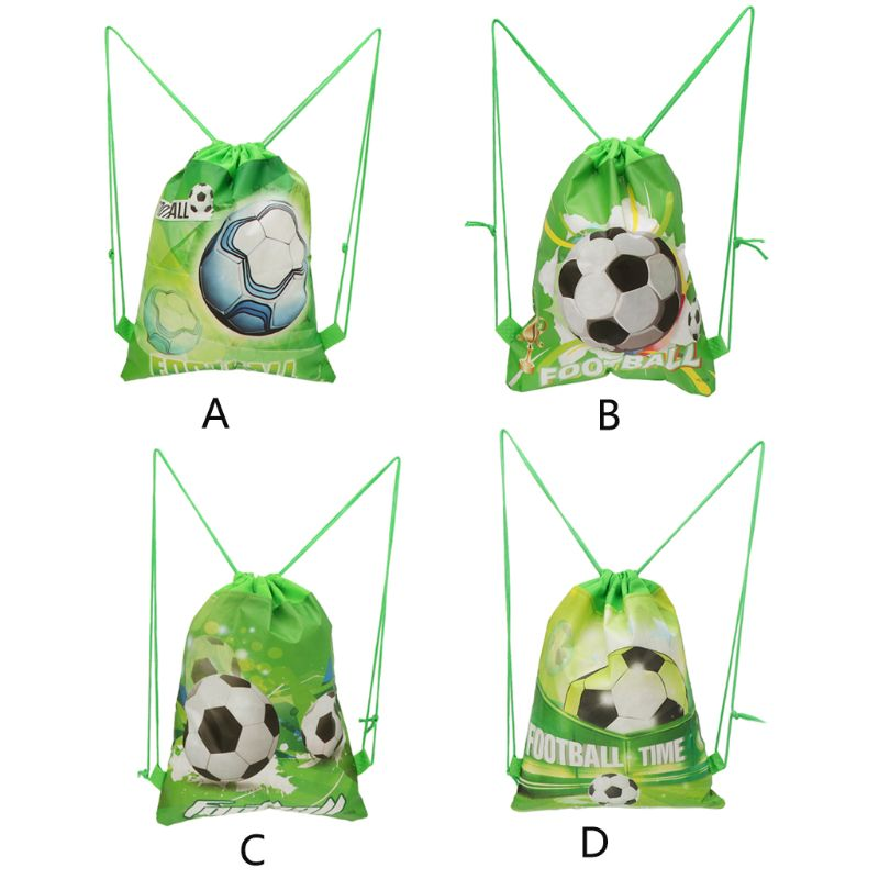 NoEnName_Null Football Storage Bag Non-woven Fabric Drawstring Bag Outdoor Sport Gym Backpack 34cm X 27cm
