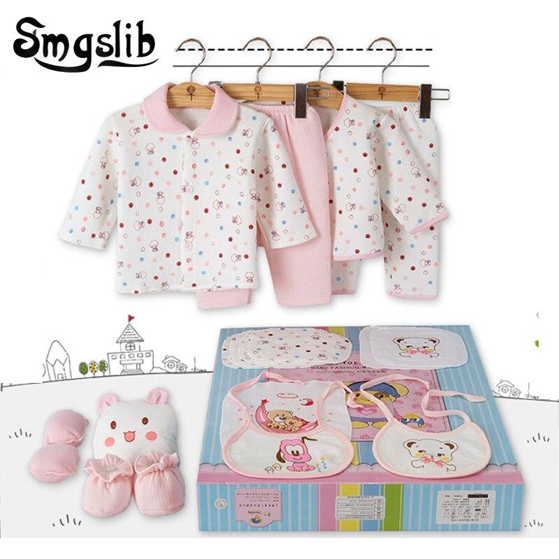 Smgslib 18pcs Baby Clothes Long Sleeves Baby Girl Winter Clothes Soft Cotton 3 6M Pajamas Clothing