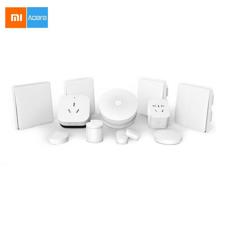 Xiaomi Aqara Smart Home Kit Solution for 2 Bedrooms and One Living Room 2017 xiaomi mi smart home kit gateway2 door window sensor human body sensor wireless switch smart devices sets for mi smart home