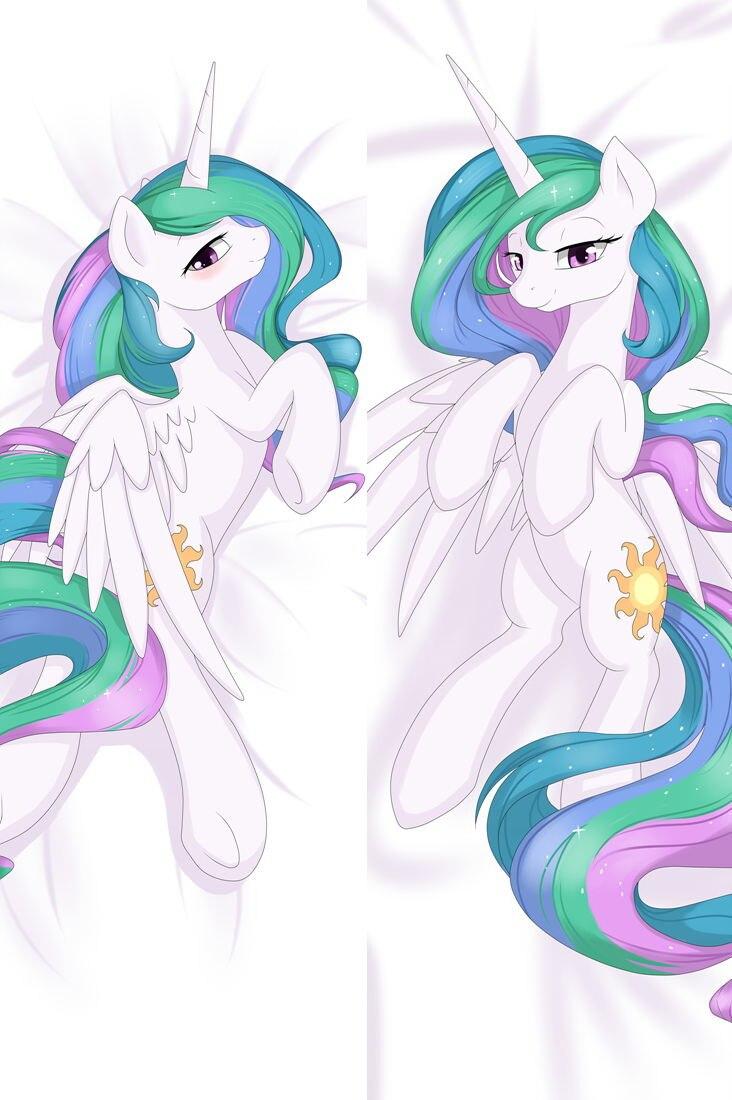 Аниме-подушка, обнимающий Bady чехол для подушки My Little Pony 64057 64066 67 68 - Цвет: Белый