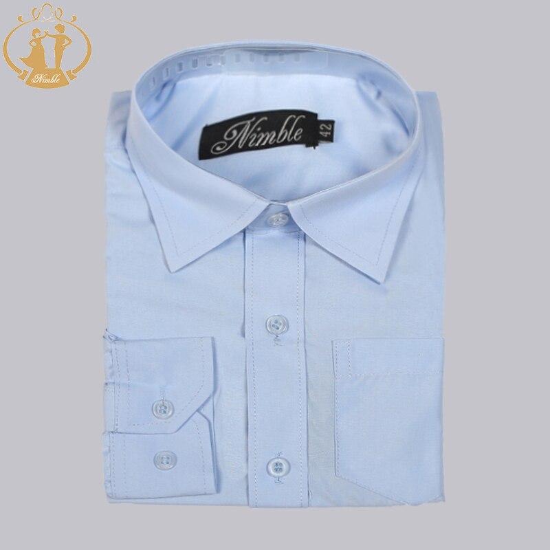 58486c3ab ذكيا الطفل الأولاد ملابس رسمية أكمام قطنية طويلة الفتيان الأبيض قميص طويل الأكمام  قميص Camisas Hombre مانغا Larga