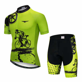 Weimostar 2020 Cycling Jersey Set Men Short Sleeve MTB Bike Clothing Ropa Ciclismo Team Downhill Bicycle Jersey Maillot Ciclismo
