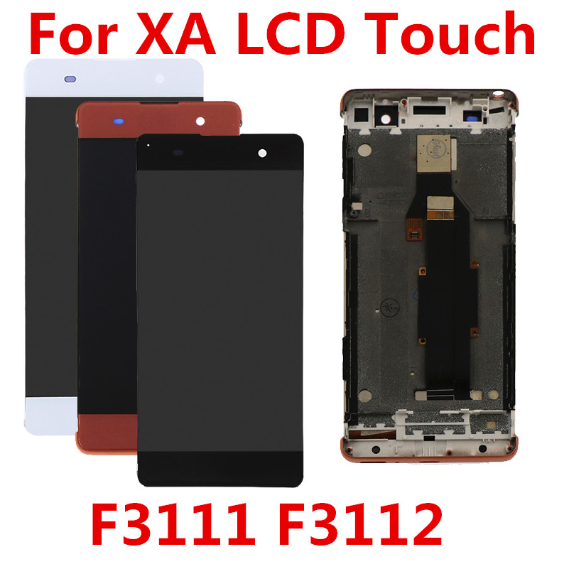 Display For Sony XA Display Touch Screen Replacement With Frame For Sony Xperia XA LCD Display Digitizer F3111 F3112