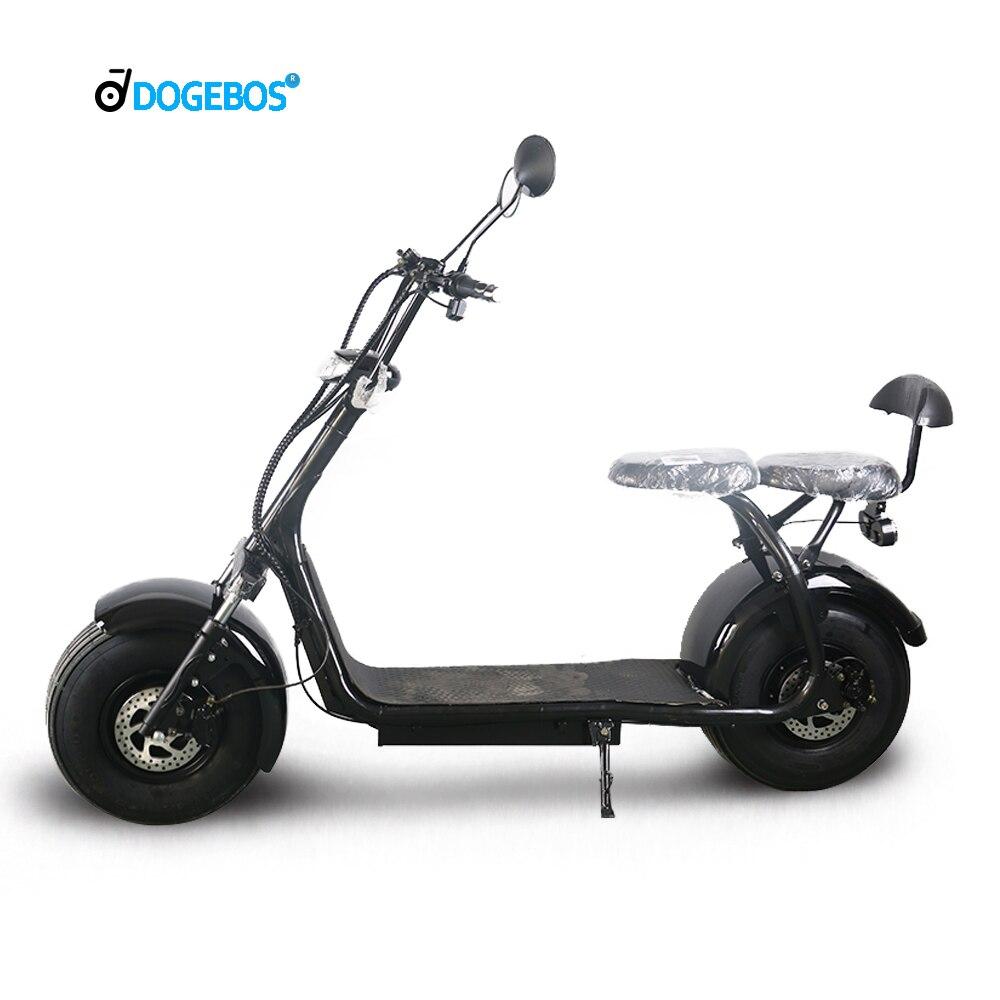 Sc03 pro citycoco scooter 1500w 60v 20ah avec batterie au lithium amovible de hollande