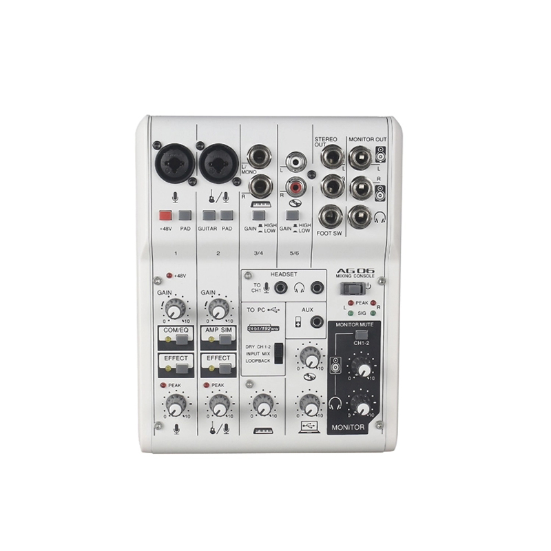 Vadiboer AG06 6 Channels Mini Mixer Digital Sound Board For Church Digital Mixing Console Audio Digital Mixer Soundcraft