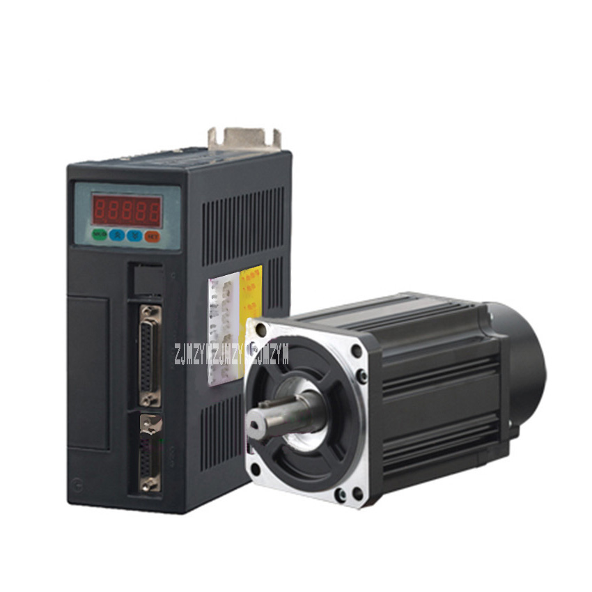 1KW AC Servo Motor 4N.M. 2500rpm 90ST-M04025 220V AC Motor+Matched Servo Motor Driver+3M Cable Complete Motor Kit With CE 1kw high power ac 130mm flange servo motor and driver set 220v ac servo motor 4n m 2500 rpm