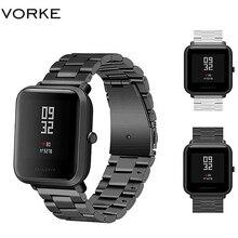 Vorke VKS1 Metall Edelstahl Ersatz Uhr Band für Xiaomi Huami Amazfit Bip mit Einstellung Ersetzen Armband Straps