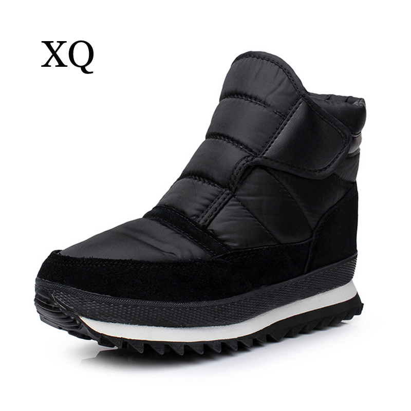 Men boots winter men ankle boots waterproof plush non-slip flat men snow boots Plus size 39-45 ...