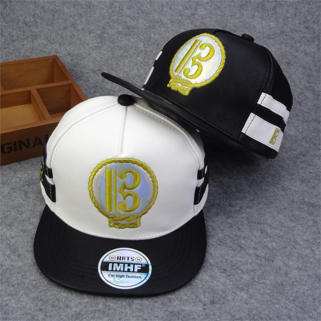 7d4a4011df5 High Quality 2016 Brand Snapback Hat Hip Hop Cap Fashion B D letter PU Cool  Baseball Cap Comfortably New Gorras Planas Casquette-in Men s Baseball Caps  from ...