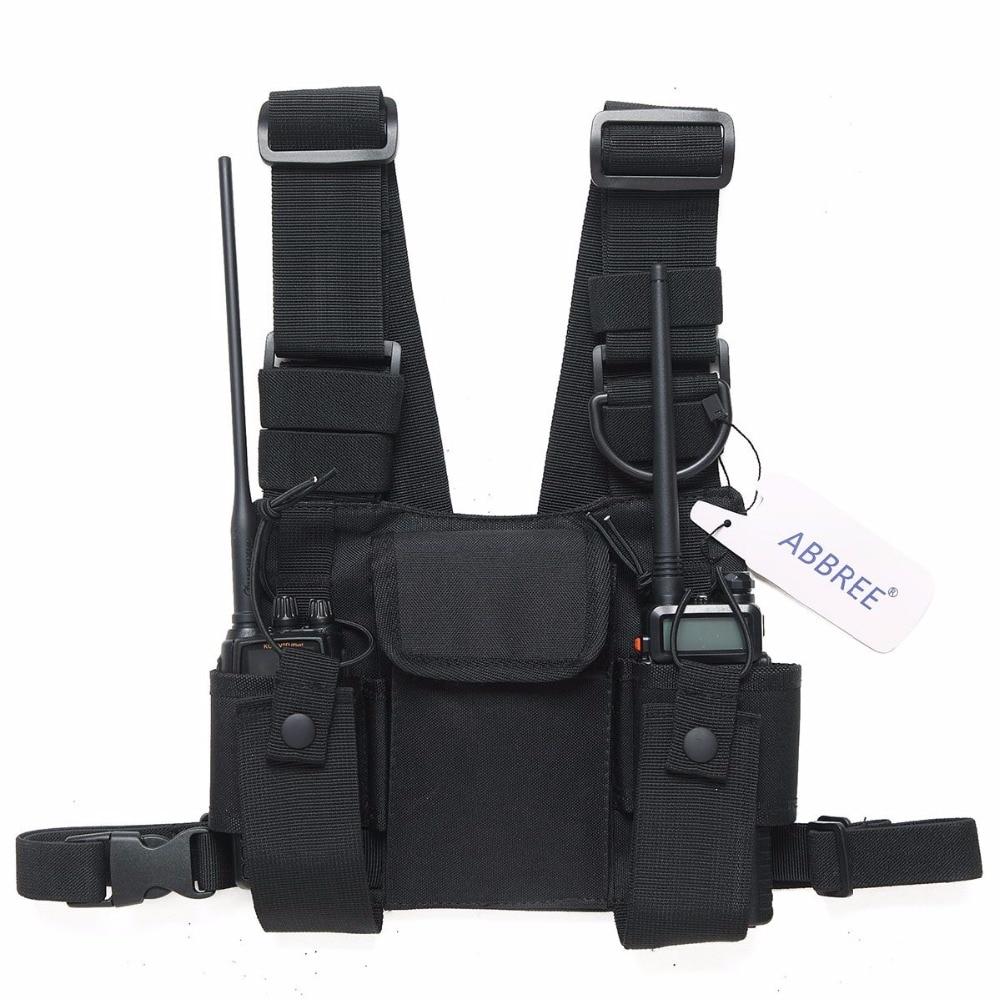 Radio Pouch Brust Pack Tasche Walkie Talkie Universial Tasche Halter Tragen Fall für Yaesu TYT Baofeng UV-5R UV-82 UV-B3 Plus radio