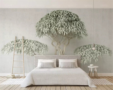 beibehang Classic fashion wallpaper green trees Forest Park TV sofa living room background wall papel de parede paper