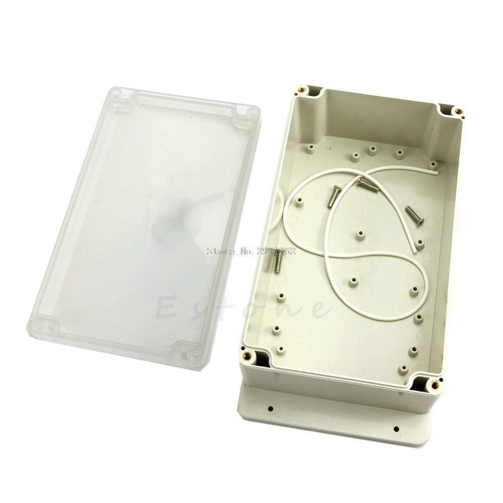C18 200x120x75mm Clear Plastic Waterproof Electronic Project Box Enclosure CASE -B119 1pc waterproof enclosure box plastic electronic project instrument case 200x120x75mm